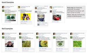 Beispiele guter und schlechter Postings zeigen im neuen Best Practice Guide von Facebook, wie man Inhalte aufbereiten sollte.