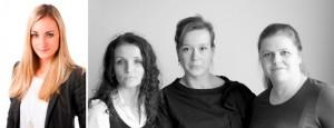 Katharina Lehner von ambuzzador und Radostina, Peggy und Yvonne, Veranstalterinnen der The Hive Conference - (c) The Hive & ambuzzador
